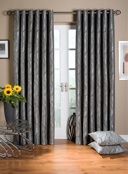 these lovely curtains feature a great balance of rich colour and