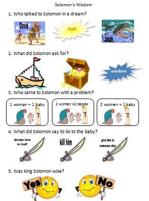 Bible Fun For Kids Solomons Wisdom