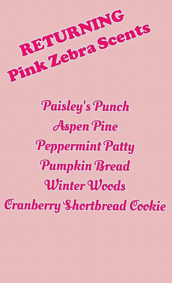 Returning 2014 Fall Winter Pink Zebra Scents Image