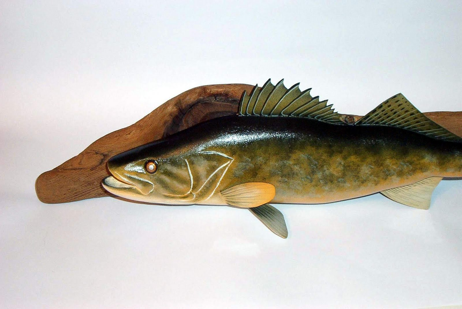 Some guy s carved fish