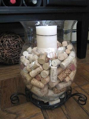 wine cork backsplash