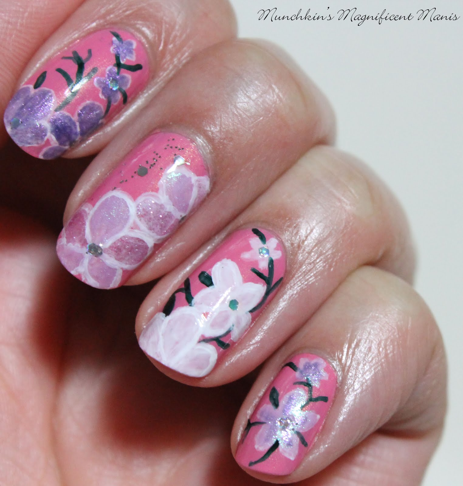 Munchkins Magnificent Manis Spring Is In The Air Spring Flower