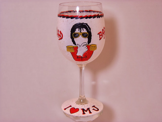 Michael Jackson wine glass