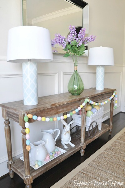 Easter Spring Decor In The Dining Room