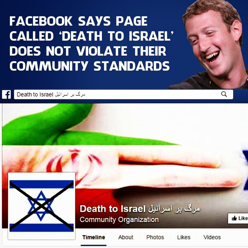 Atheist Zuckerberg and his leftist crew do nothing against many forms of hate speech, but approve of anti-Christian, anti-Conservative, anti-creationist, anti-Semitic hate speech.
