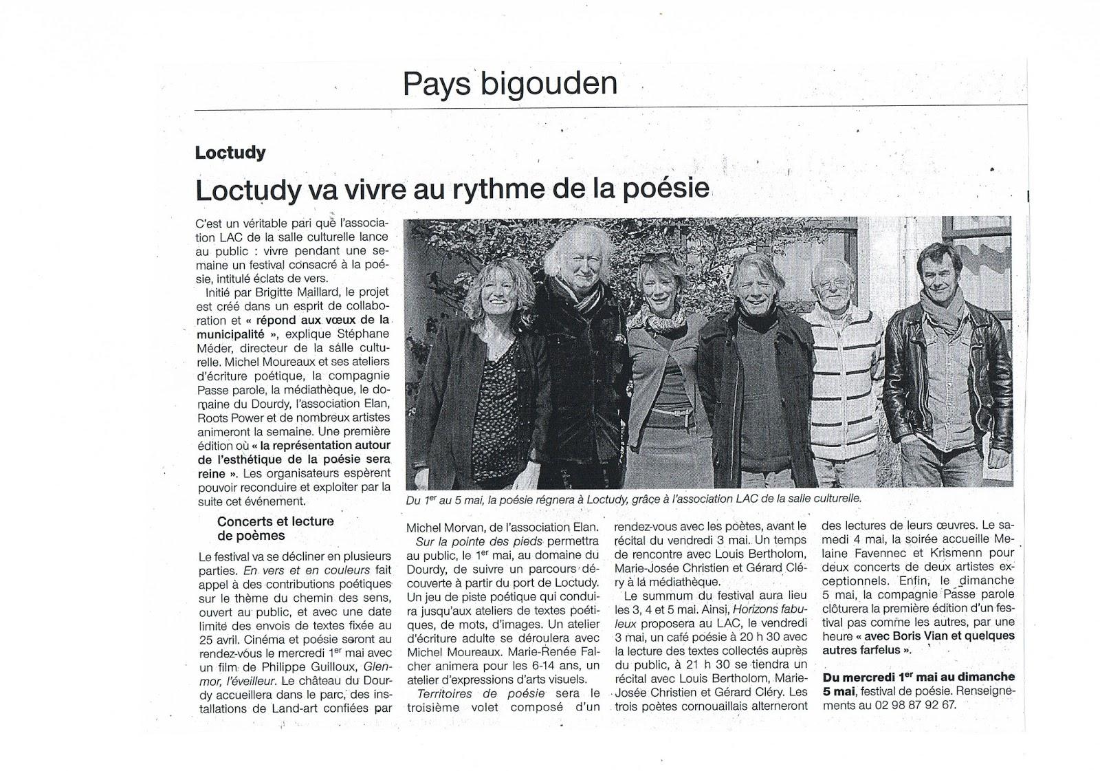 Loctudy Ouest France Poésie Festival 2013 Eclats de vers