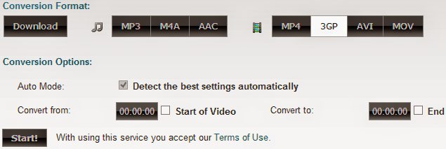 Clip Converter Conversion Options