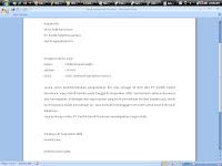 contoh surat lamaran kerja dan contoh cv yang digunakan dalam suatu