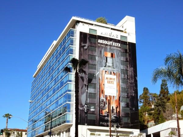 Giant Absolut Elyx Vodka billboard