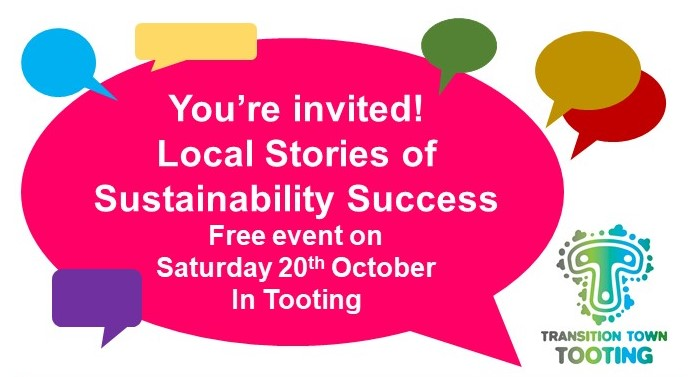 We are POSTPONING 'Local Stories of Sustainability Success' from Sat 20th October