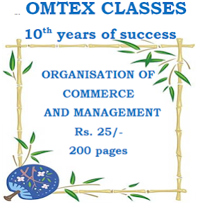ORGANISATION COMMERCE MANAGEMENT NOTES