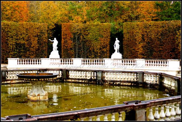 Bosquet des dômes château de Versailles autumn
