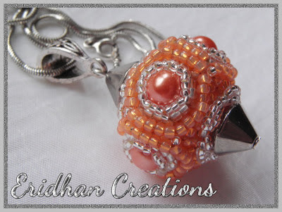 beaded bead pendant