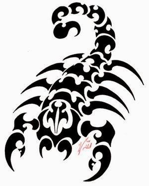 Diseño Tatuaje tribal signo Escorpión 07
