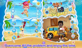Screenshots of the Beach Party Kids Game for Android tablet, phone.