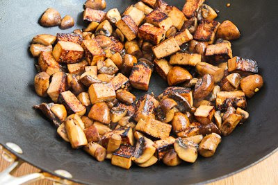 Stir-Fried Marinated Tofu and Mushrooms found on KalynsKitchen.com
