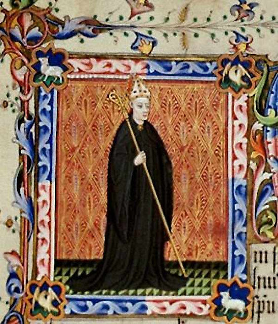 São Leofredo:iluminura medieval, França