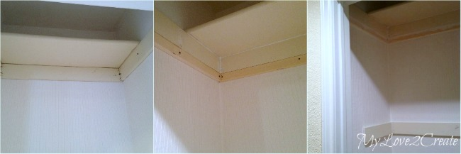 MyLove2Create, Hall Closet Makeover, adding support boards for shelf and hooks