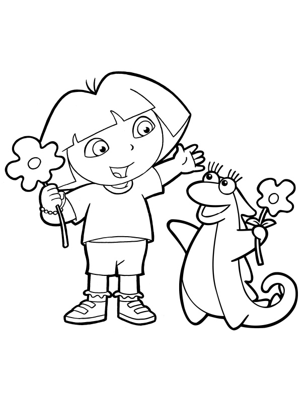 dora coloring pages backpack - photo#17