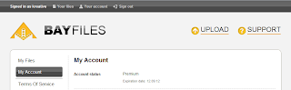 Bayfiles Premium Account 13 september 2012 wITH pROOF