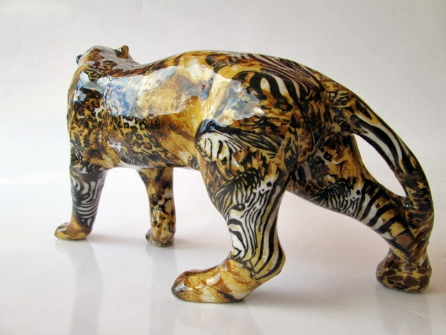 FIGURA DE LEOPARDO DECORACION