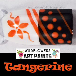 Wildflowers Nail Art Paint Tangerine