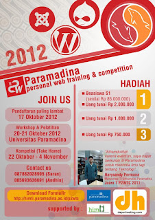 Paramadina Personal Website Training and Competition
