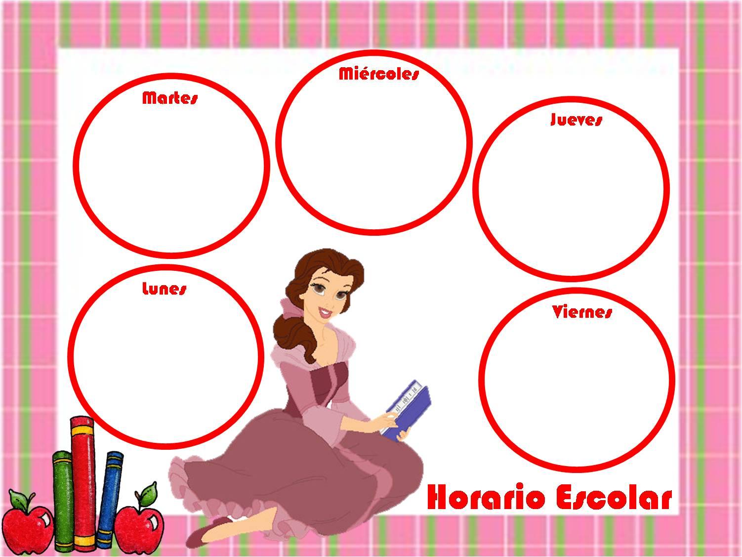 Imagenes De Horarios Escolares Para Ninos
