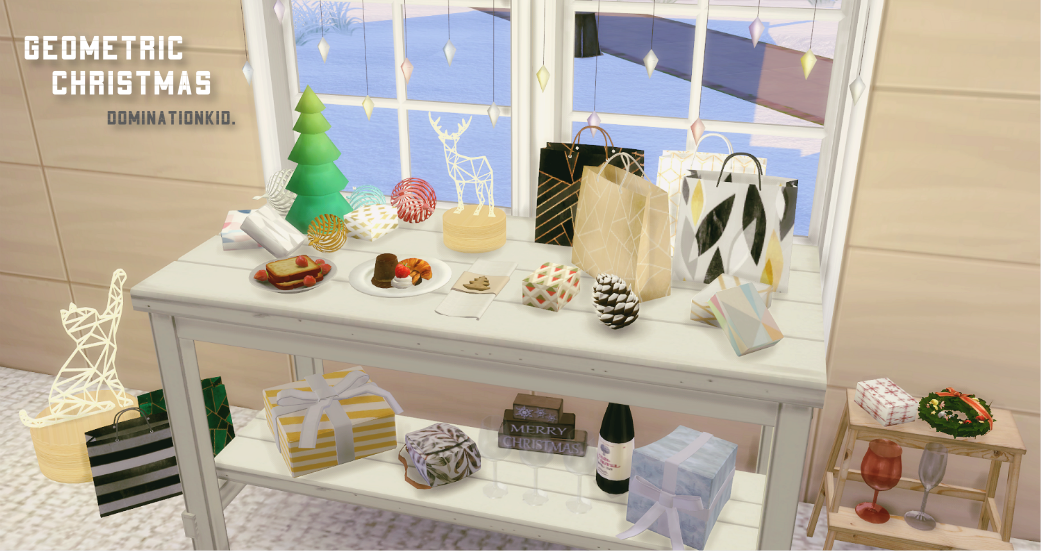 My Sims 4 Blog Geometric Christmas Decor Set By Dominationkid