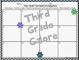 http://www.teacherspayteachers.com/Product/Grammar-Task-Card-Pack-Winter-Theme-1002317