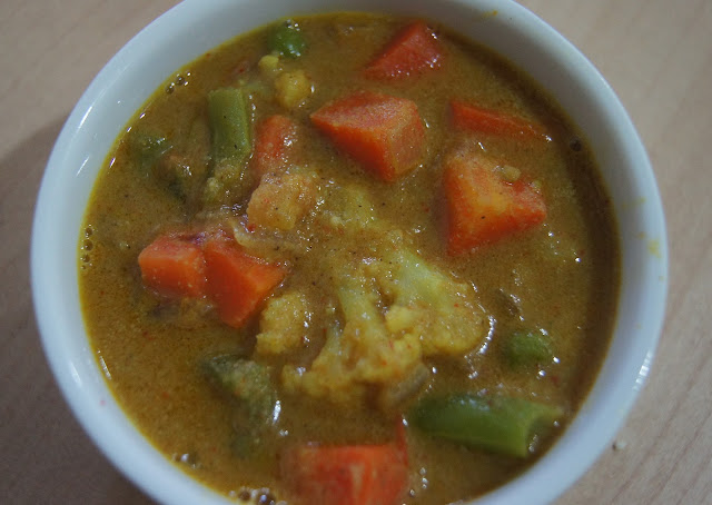 Simple Vegetarian Recipes: Chettinad Vegetable Curry