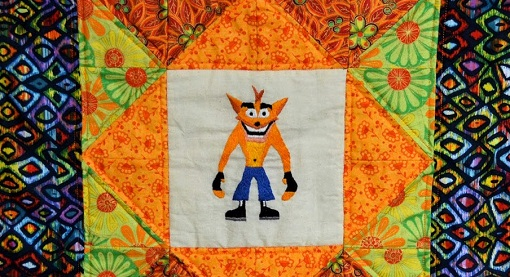 Crash Bandicoot Quilt