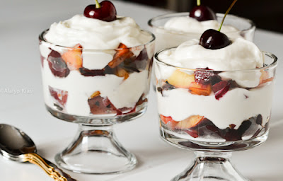 Grilled Stone Fruit Parfait with Yogurt