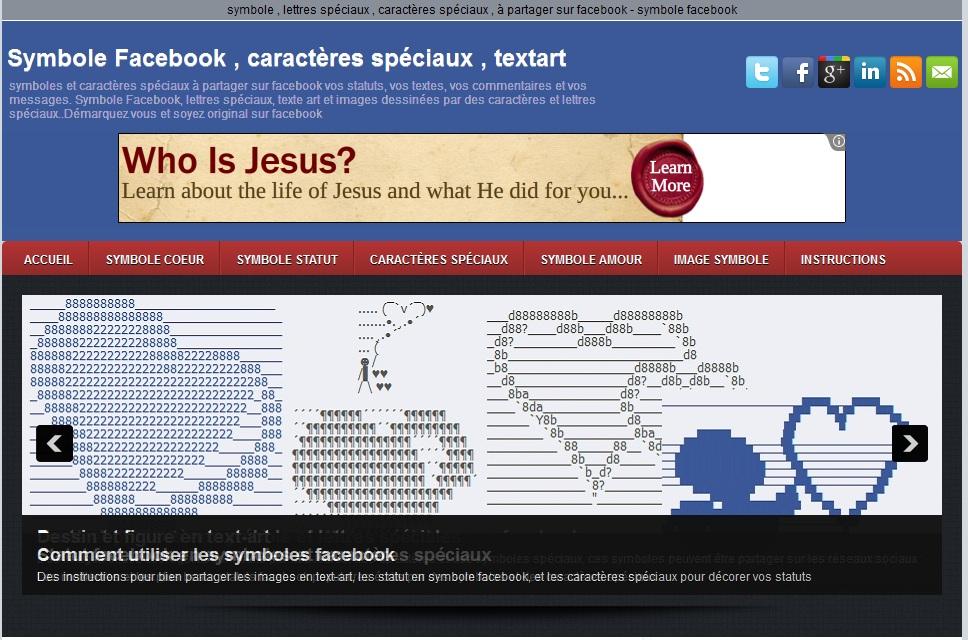 blog symbole facebook