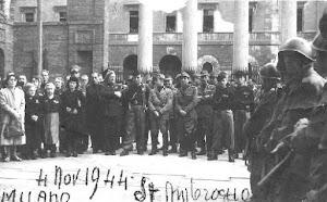 4 NOVEMBRE 1944 – MILANO PIAZZA DELLA BASILICA  DI SANT'AMBROGIO