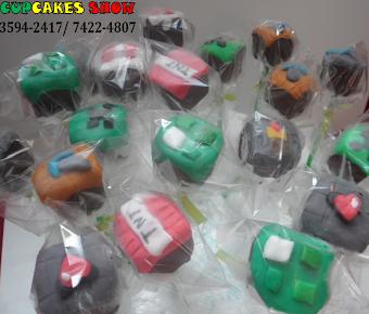 Cake pops personalizado do Minecraf