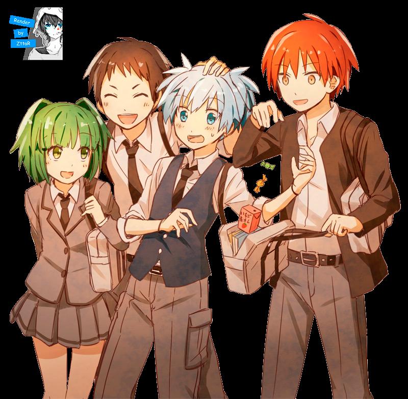 Render Shiota Nagisa, Kayano Kaede and Akabane Karma
