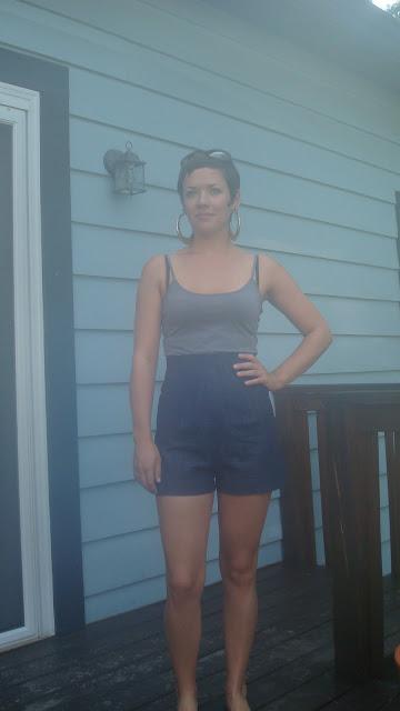 Denim 1940s shorts