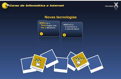 CURSO DE INFORMÁTICA E INTERNET - NOVAS TECNOLOGIAS