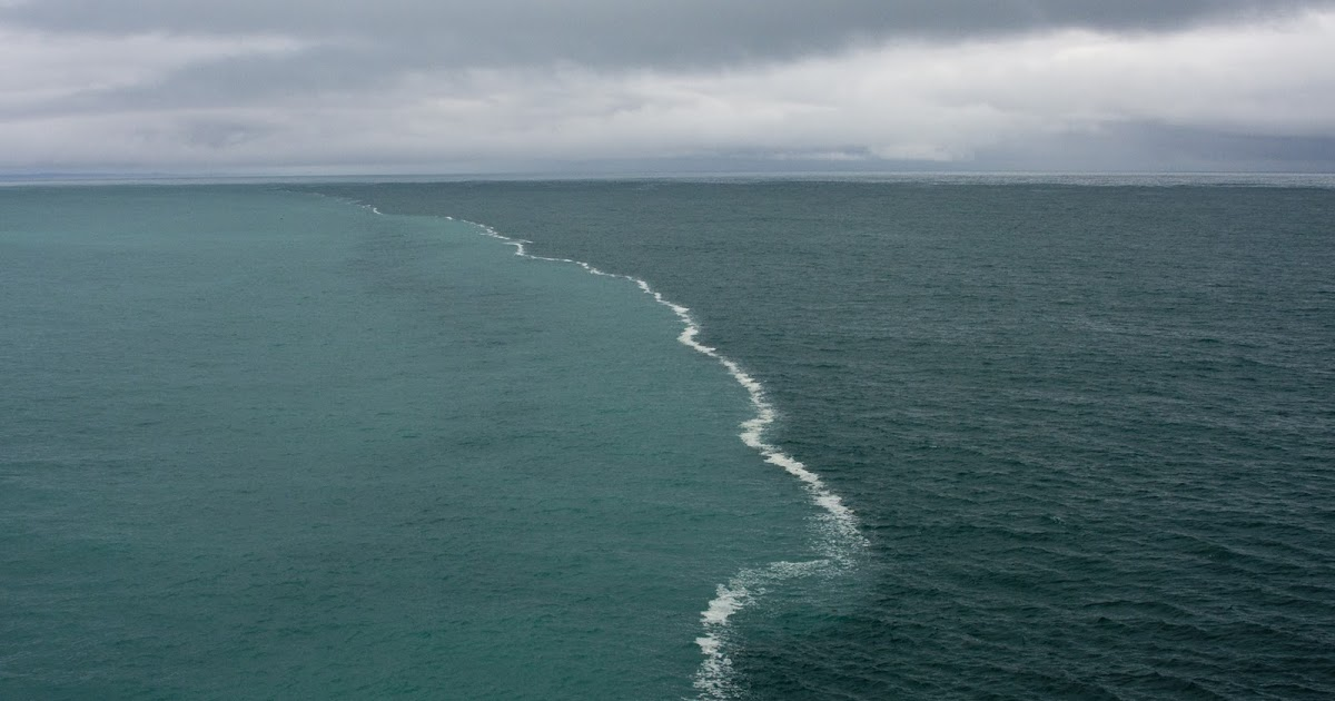 place in the gulf where two oceans meet but do not mix