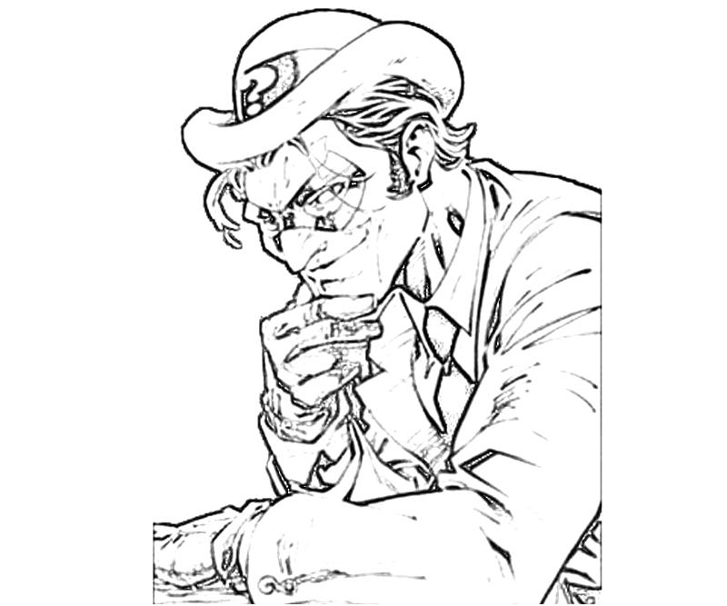 Printable Batman Arkham City Riddler Concept Coloring Pages