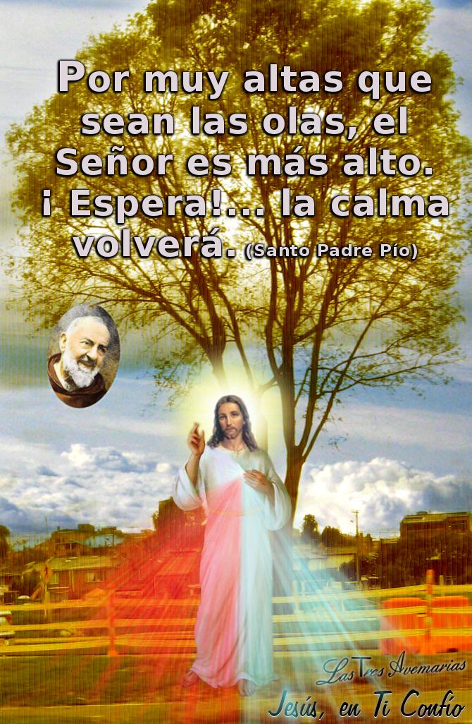mensaje del padre pio en foto de la divna misericordia