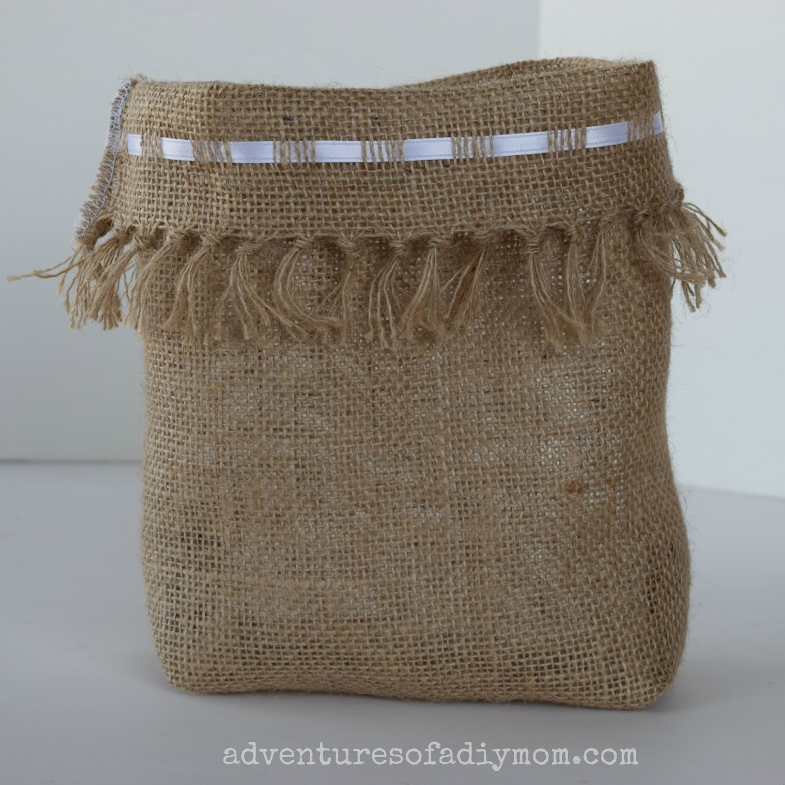 how to make a burlap bag adventures of a diy mom