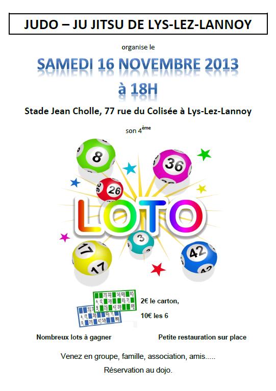 Judo ju jitsu club de lys lez lannoy loto du samedi 16 novembre - Code postale lys lez lannoy ...