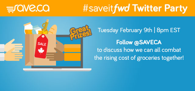 Save.ca's #saveitfwd Twitter Party!