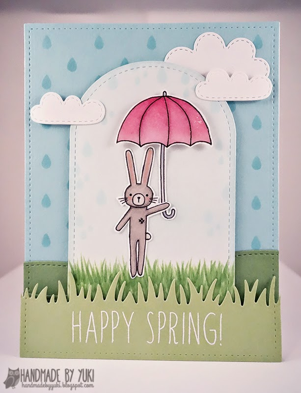 Happy Spring Card by Handmade by Yuki | Abby's Spring Showers by Simon Says Stamp