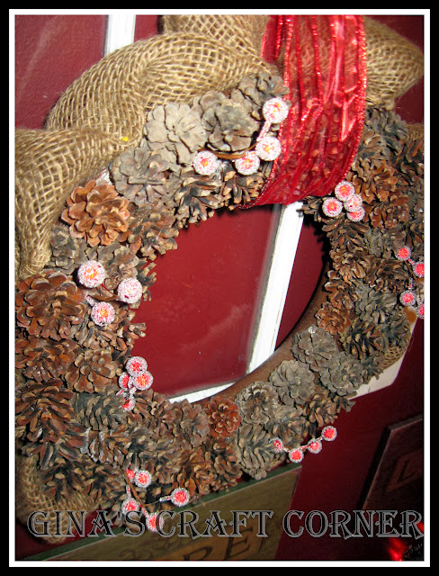 DIY Pinecone Wreath-Gina's Craft Corner