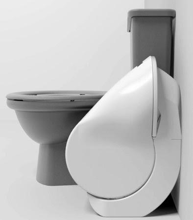 Inodoro Plegable, Compacto y Ahorrador de Agua