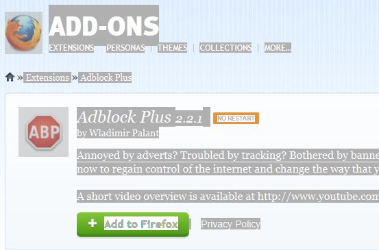 how to delete adblock plus