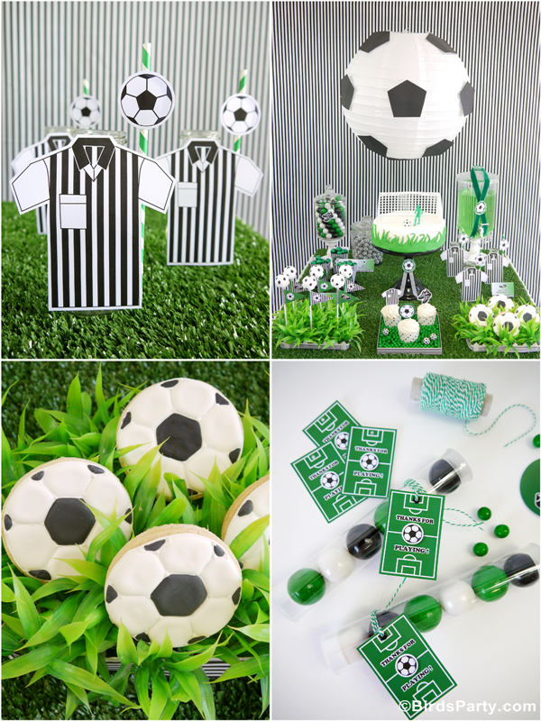 World Cup Party Ideas: Soccer Football Birthday Party Ideas, Printables and Desserts Table